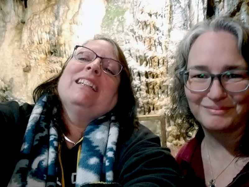 margaret and maria - Lost River Caverns - Off The Beaten In Hellertown, PA
