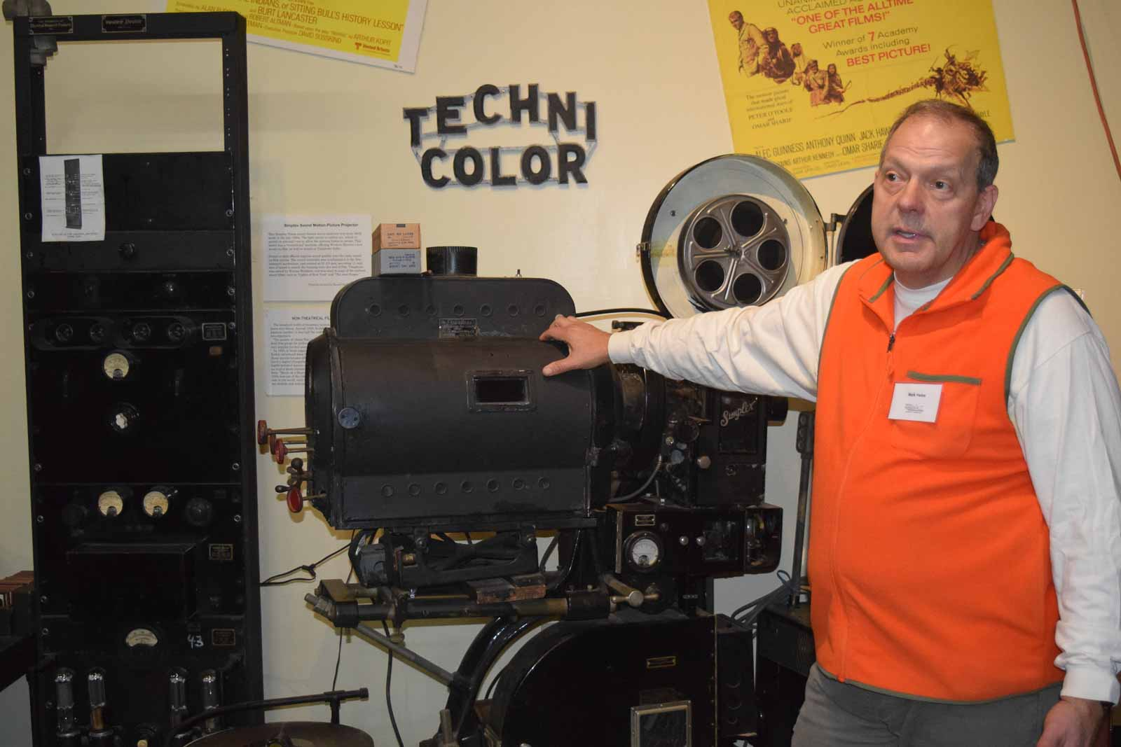 Mark, tour guide volunteer at the Vintage Radio Museum