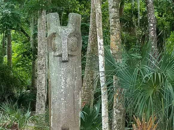 Owl Totem at Hontoon Island State Park